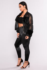 Milly Mesh Jacket - Black Angle 8