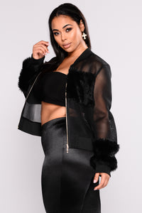 Milly Mesh Jacket - Black Angle 9