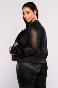Milly Mesh Jacket - Black Angle 10