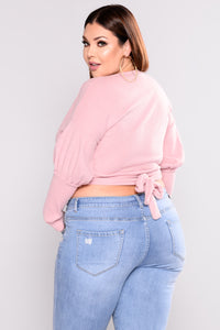 In Your Embrace Wrap Top - Pink