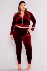 Kayley Loungewear Set - Burgundy