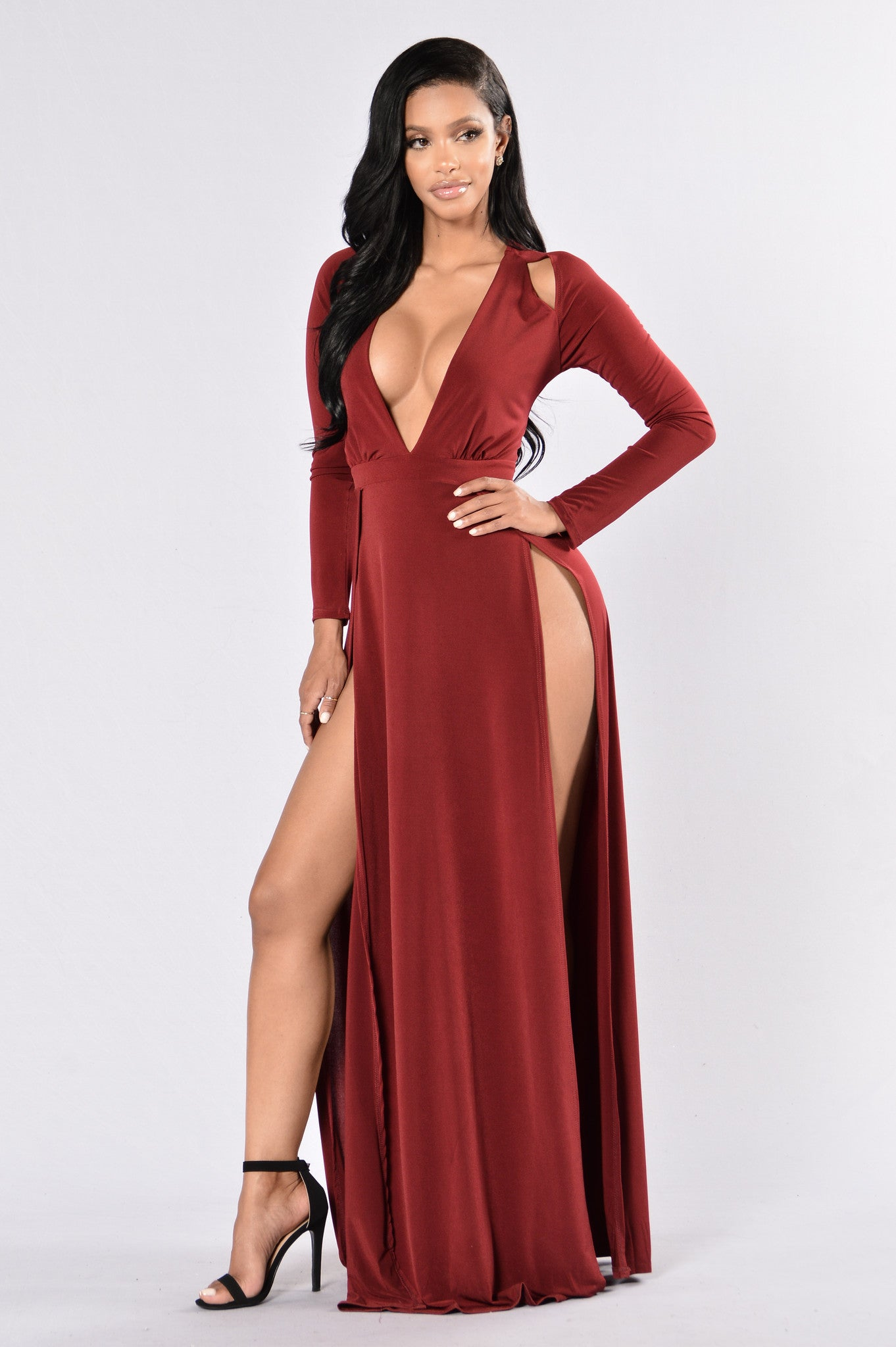 Gone with the wind fabulous dress burgundy