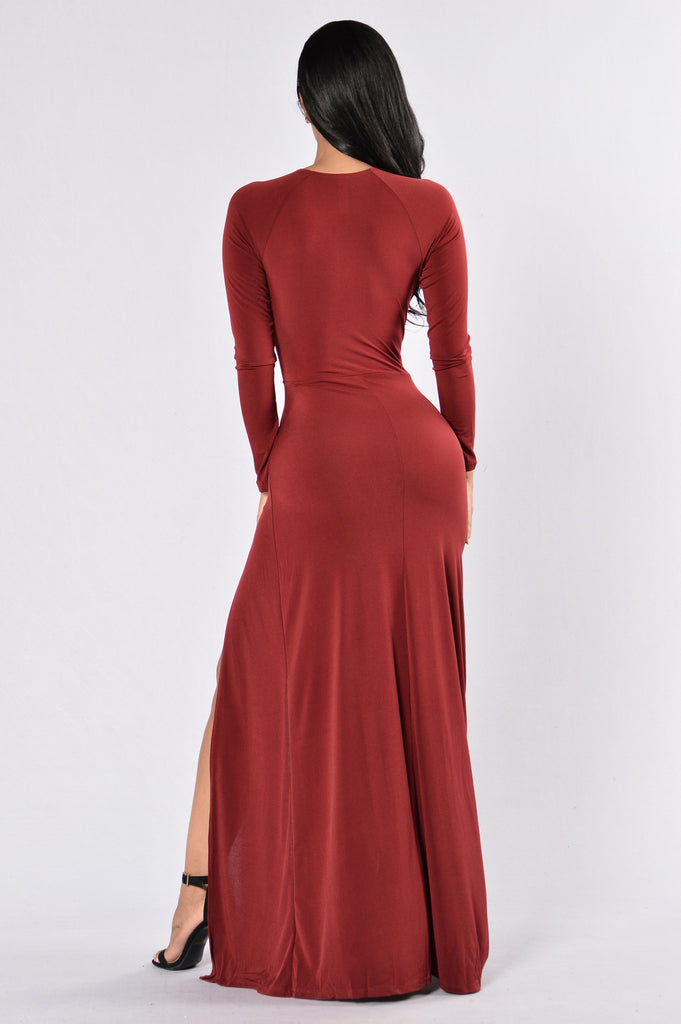 Gone With The Wind Fabulous Dress - Burgundy