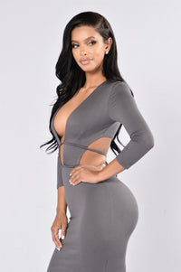 Retention Dress - Charcoal