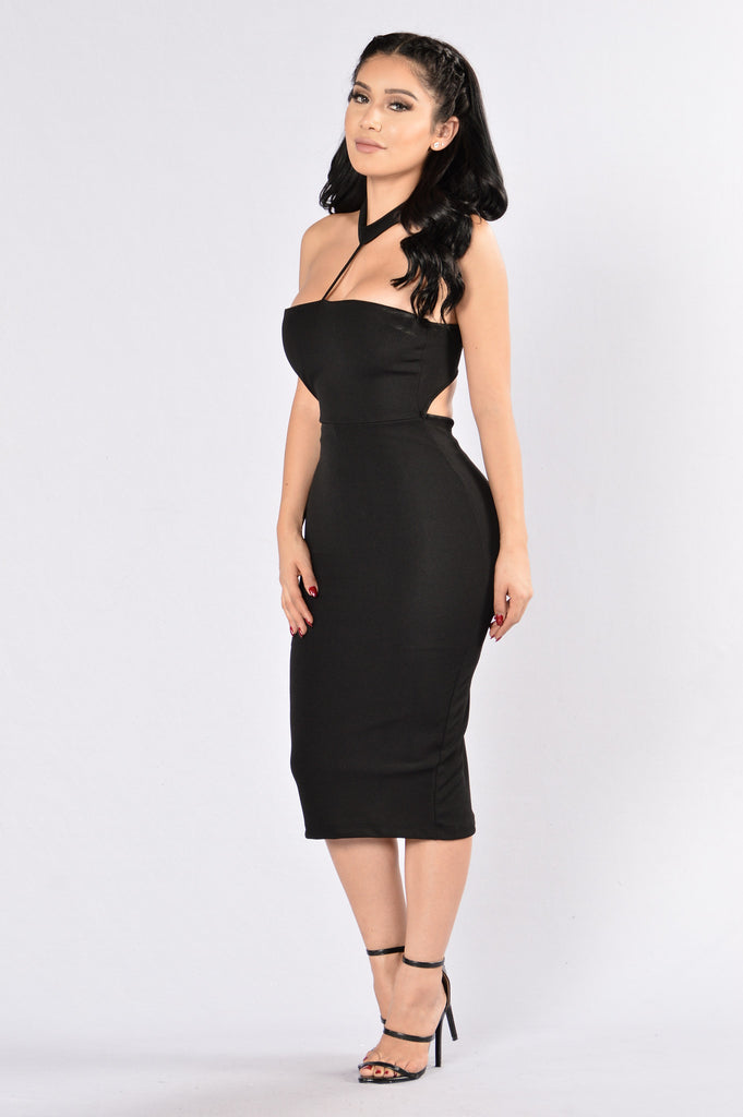 Holding On Dress - Black