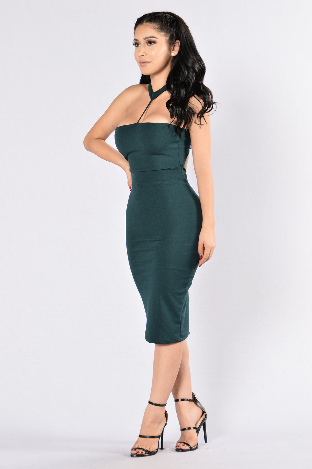 Holding On Dress - Hunter Green