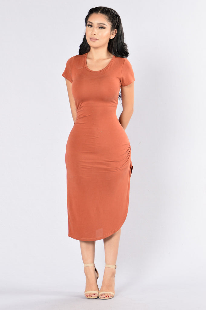 City Dweller Dress - Rust