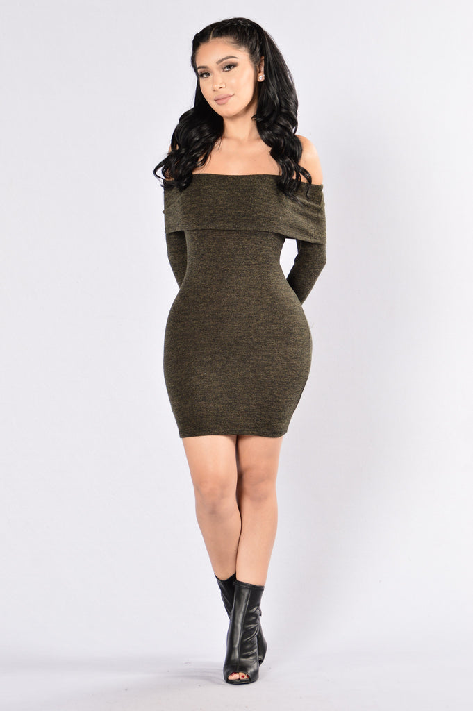 The Getaway Dress - Olive
