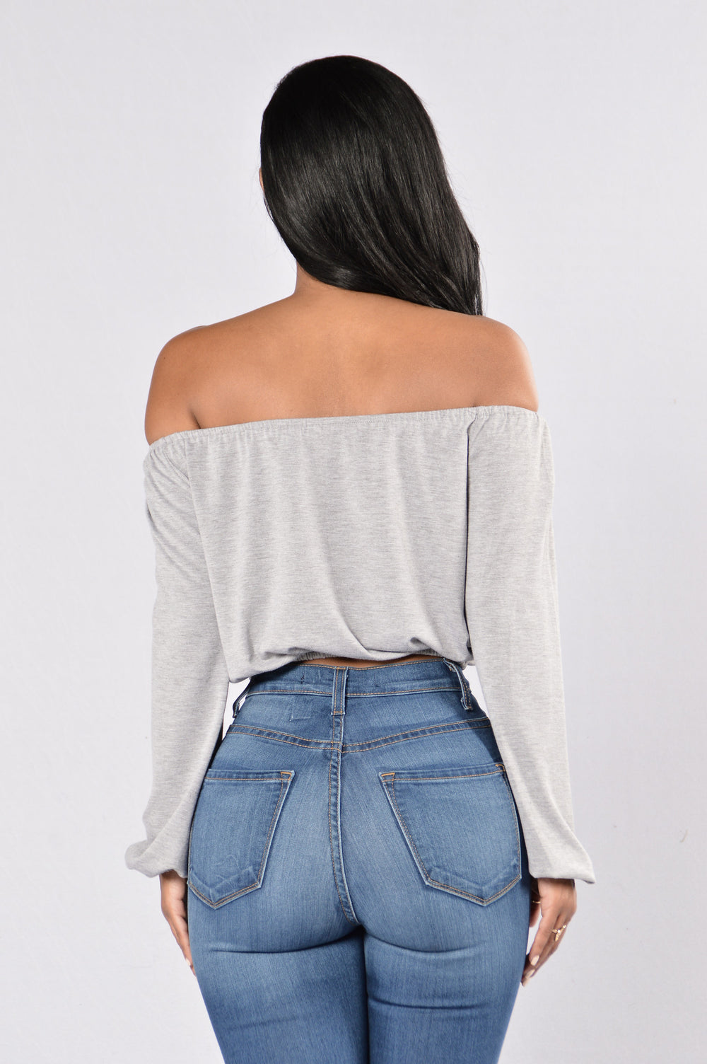 Lea Top - Heather Grey