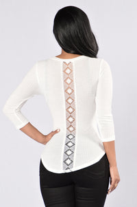 It's Hot In Here Thermal Top - Ivory Angle 1