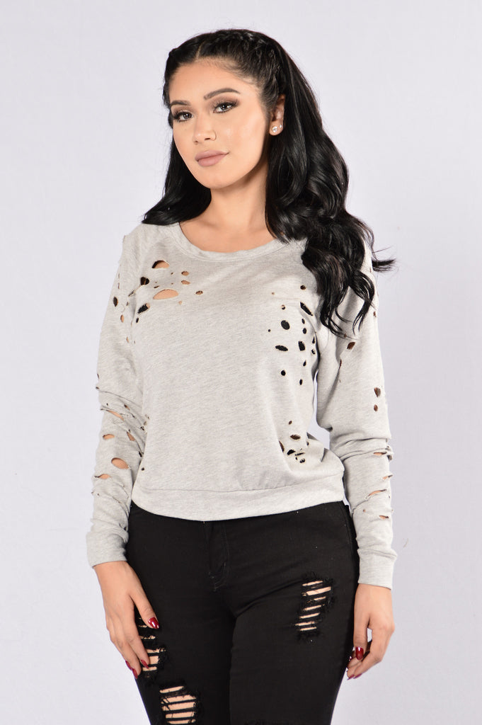 Shambles Top - Heather Grey
