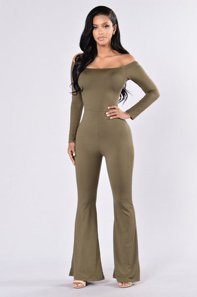 Feel Your Energy Jumpsuit - Olive