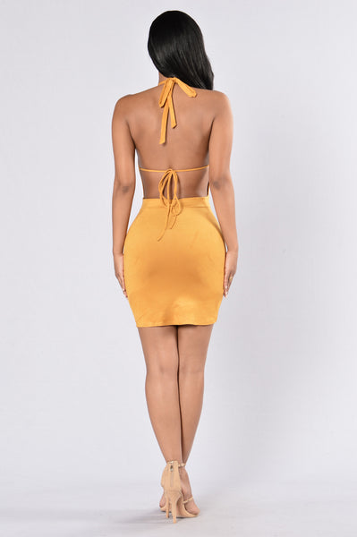 Get Outta Your Mind Dress - Mustard