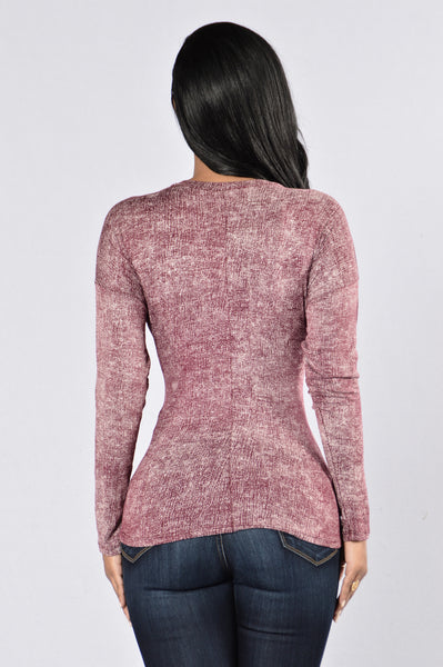 Nothing Really Matters Top - Burgundy