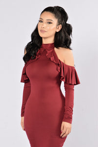 Going Strong Dress - Burgundy