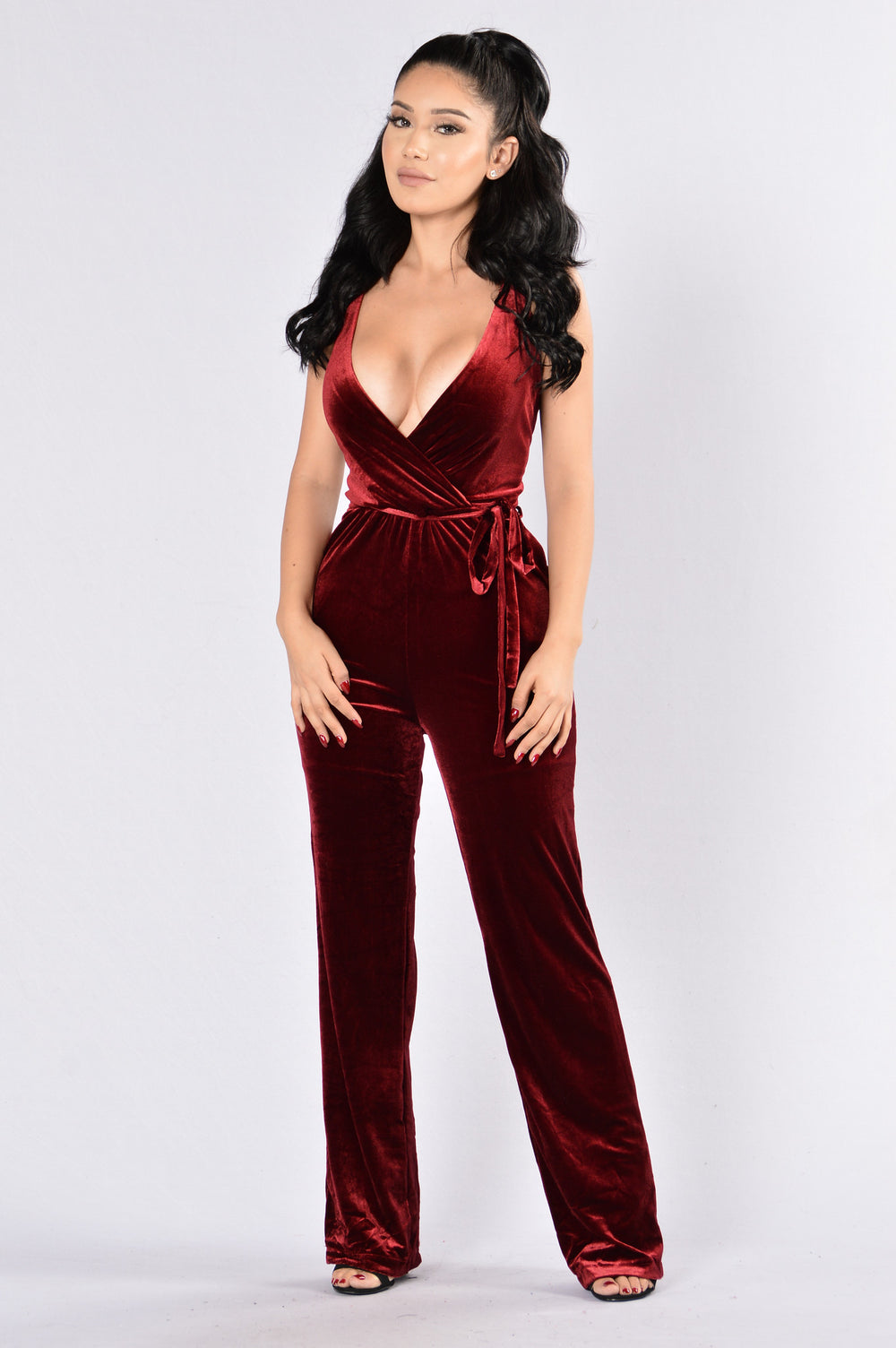 Sensuous Jumpsuit - Burgundy