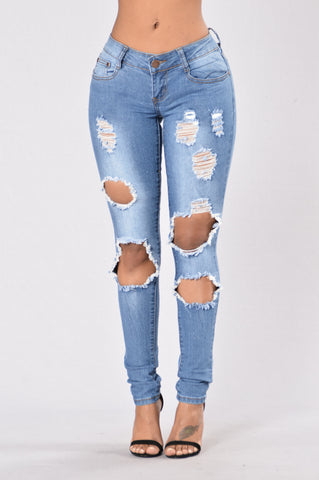 Gone Through It Jeans - Medium Wash