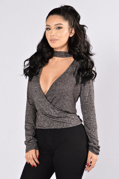 Heart And Soul Top - Charcoal