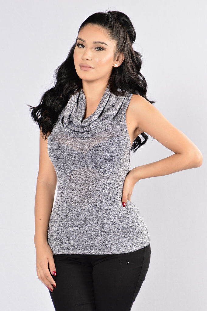 Cowl At The Mood Top - Black