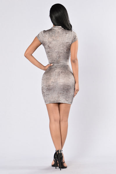 Keeps Getting Better Dress - Silver