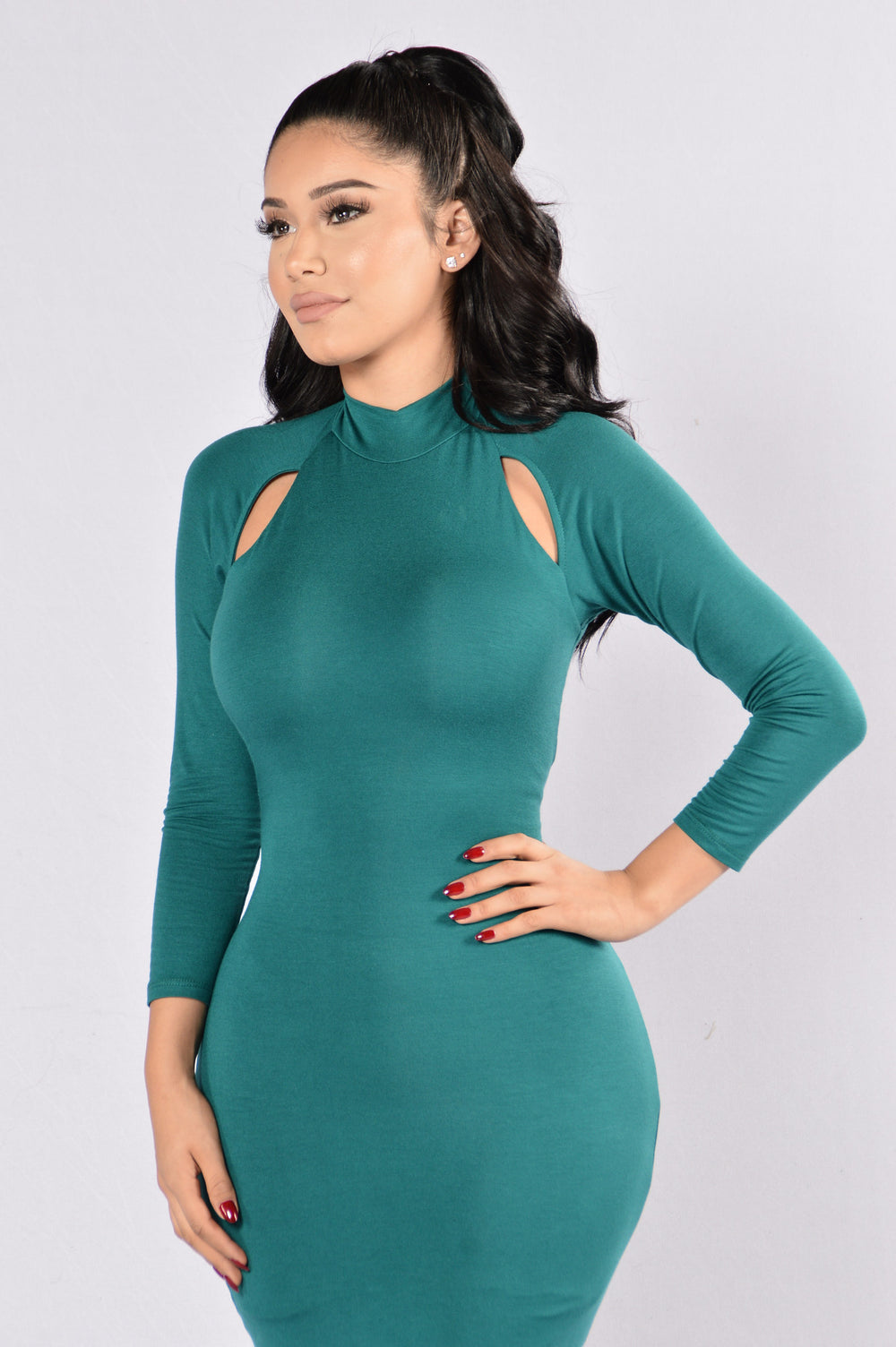 I'm Sprung Dress - Jade