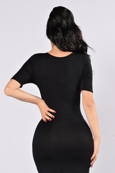 I'm Flattered Dress - Black
