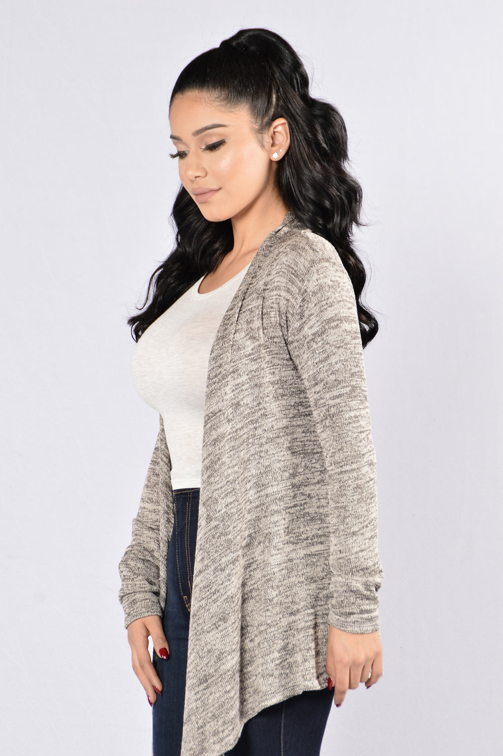 Always Here For You Cardigan - Grey