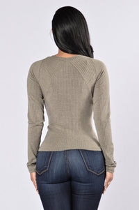 It's In The Details Top - Olive
