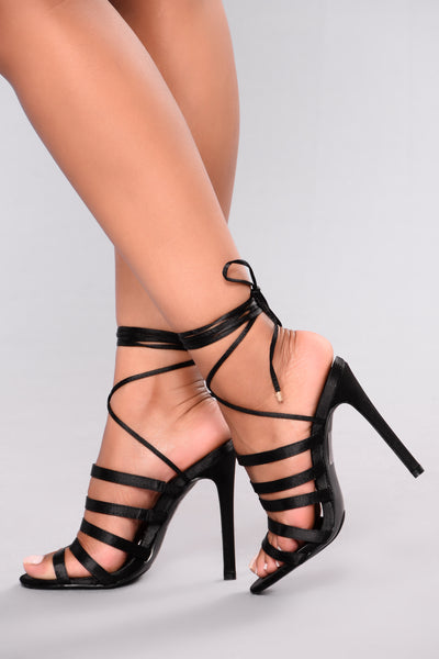 Liliana Strap Heel - Black