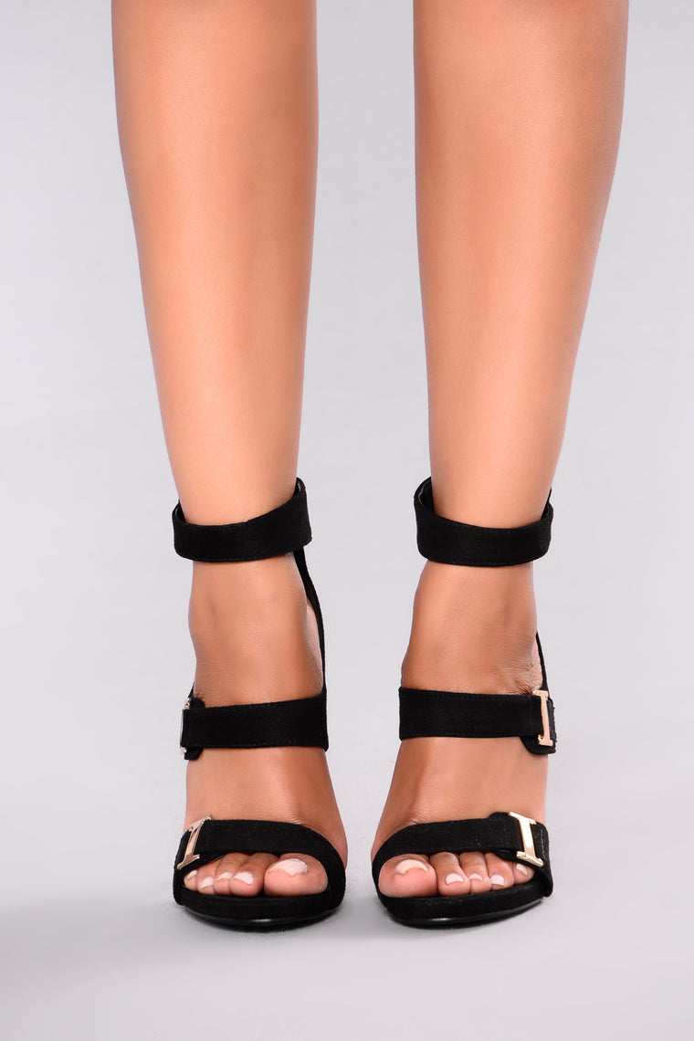 Buckle Babe Heel - Black