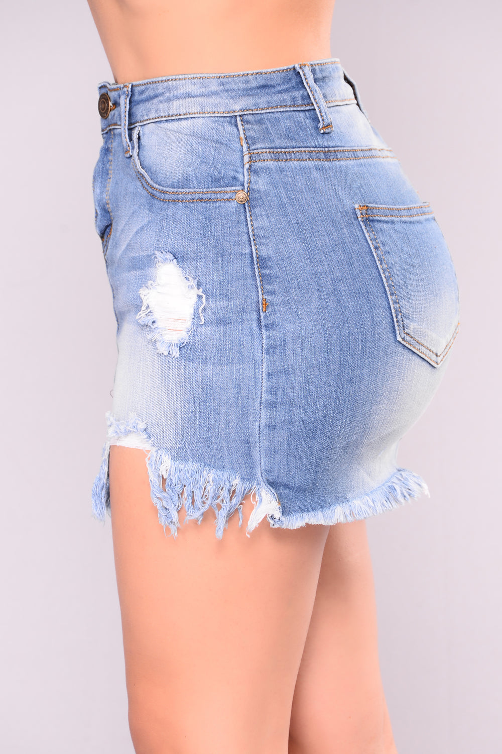 Just A Little Fray Denim Skirt - Medium