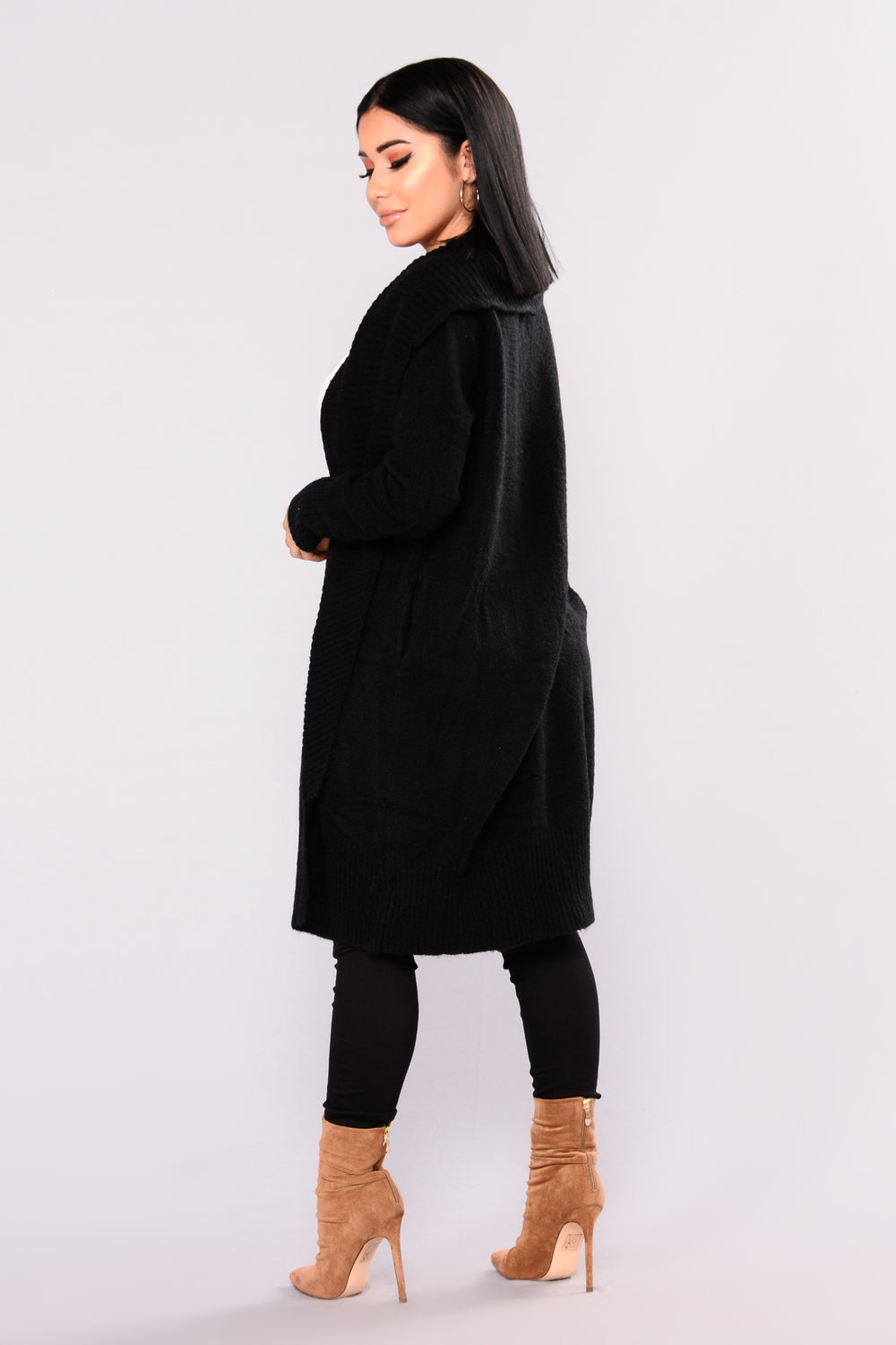 Penelope Oversized Cardigan - Black