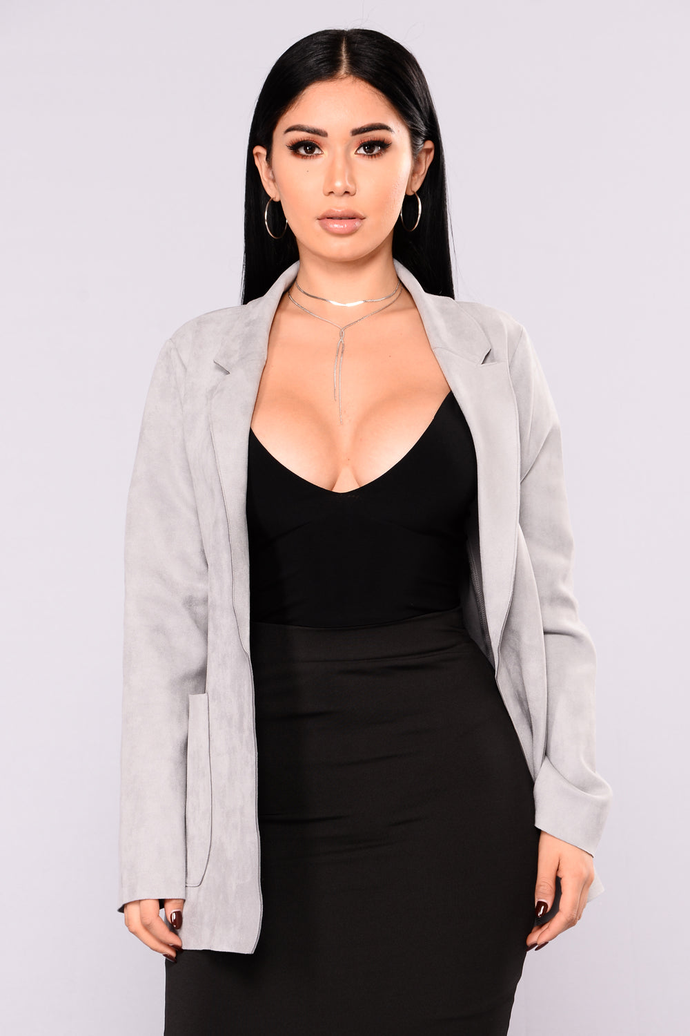 Girl Crush Suede Jacket - Grey