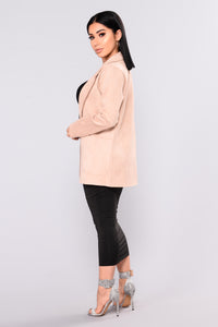 Girl Crush Suede Jacket - Blush