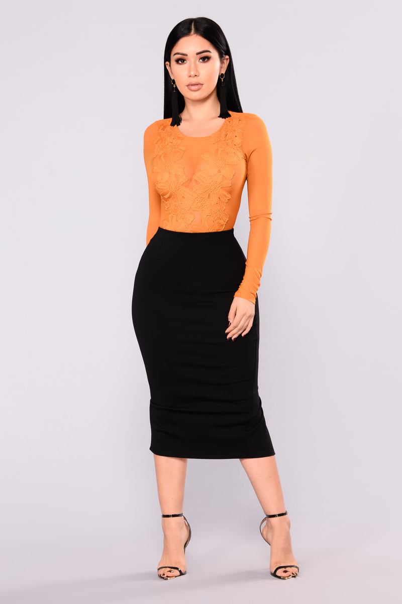 Quick Throw On Midi Skirt - Black