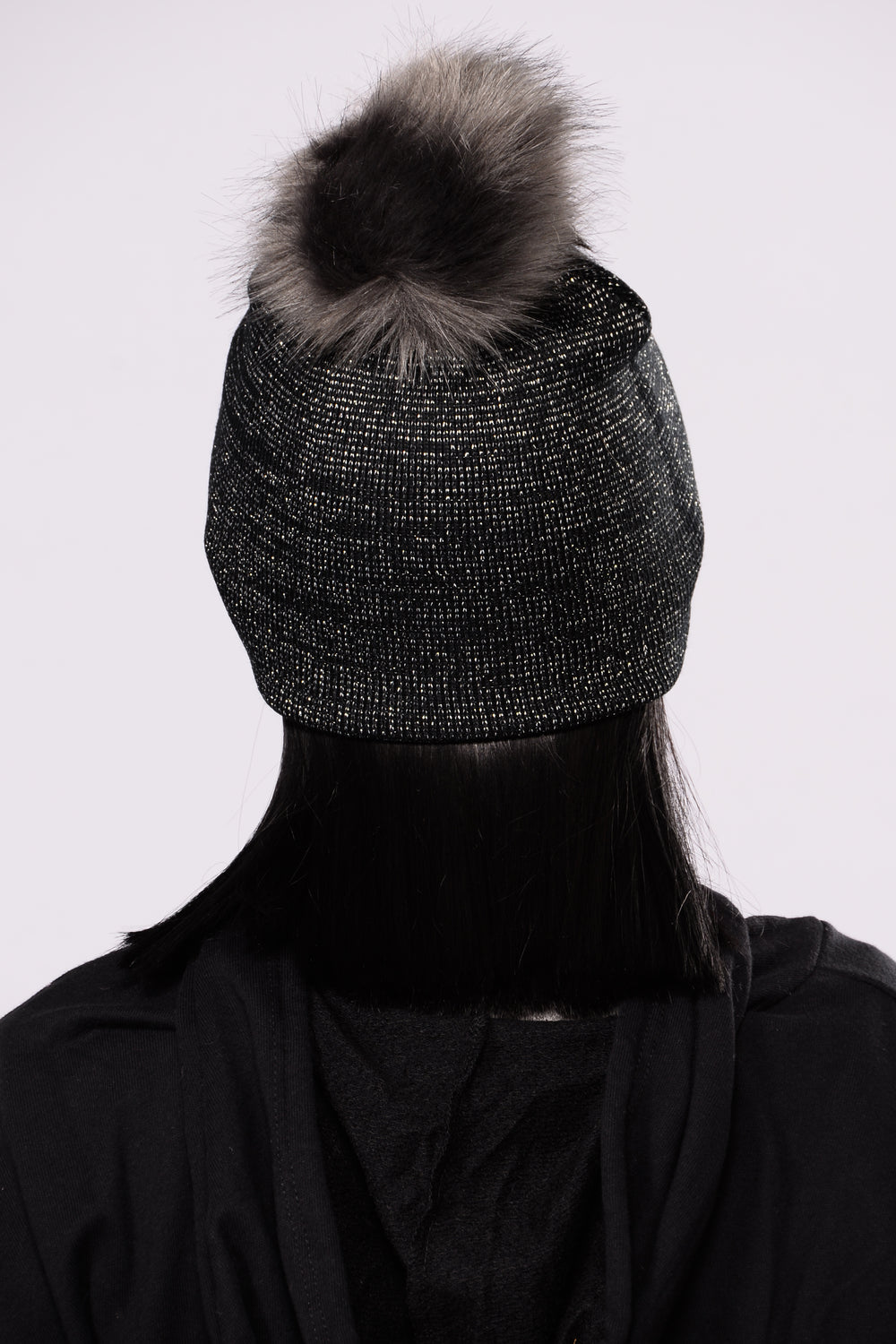Enlighten Me Beanie - Black/Silver