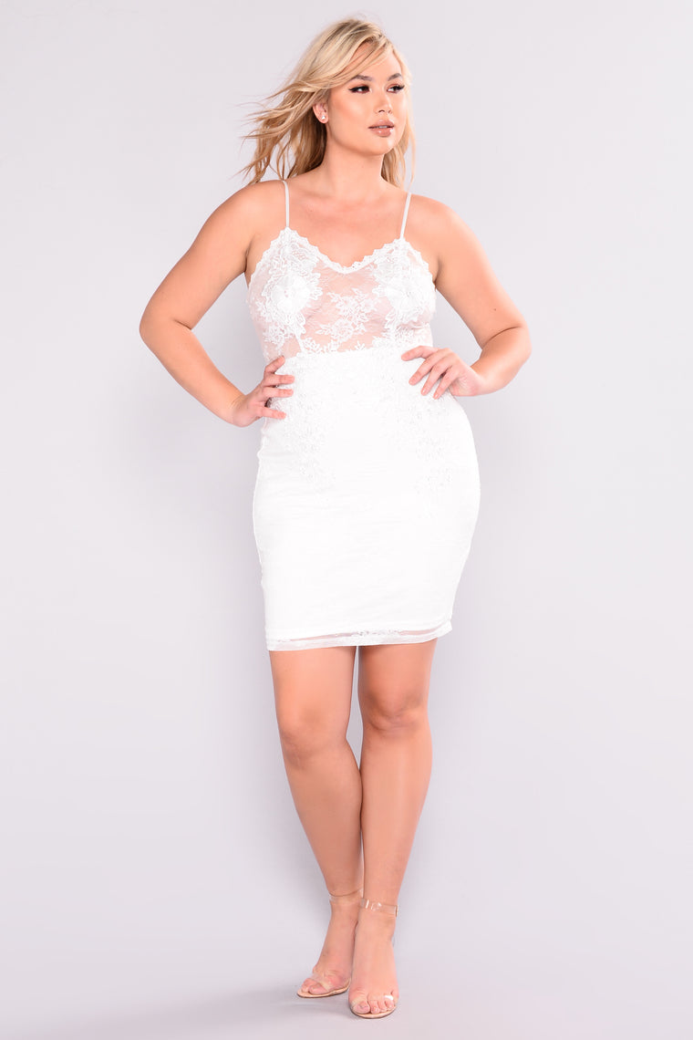 611b3bdb6bdf4 Bachelorette Party Dress - White. plus-size
