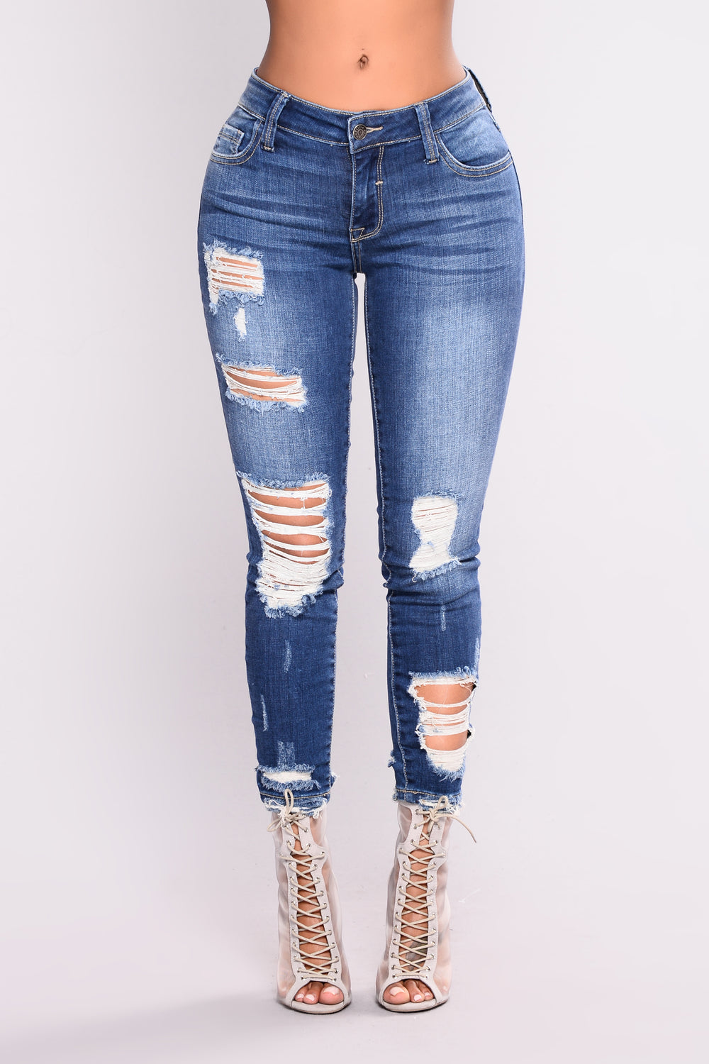 Dewey High Rise Jeans - Medium Wash