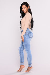 Baby Got Back Booty Lifting Jeans - Light Blue Wash