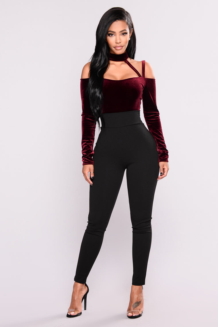 High Hopes II Bodysuit - Burgundy