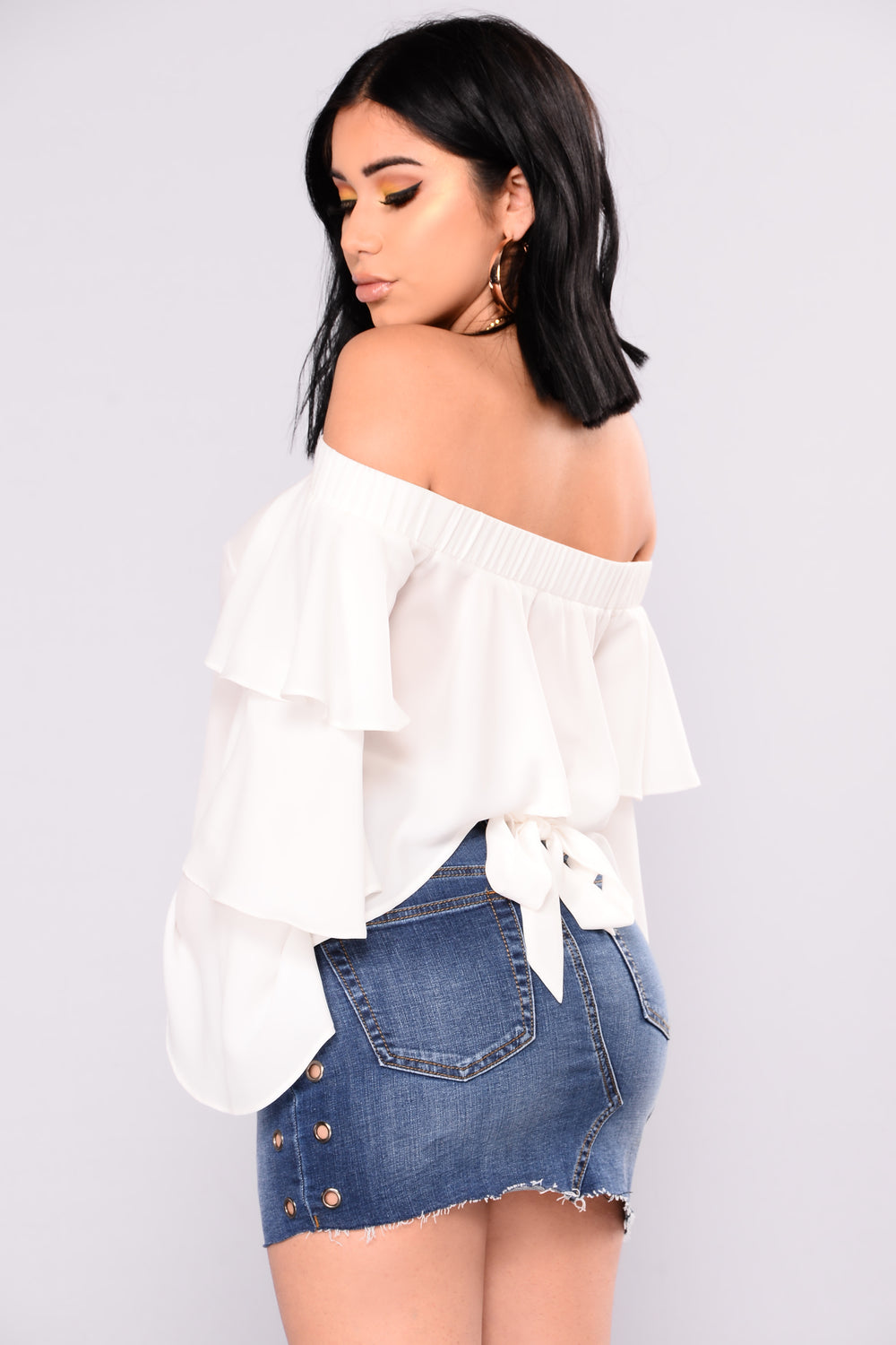 Nadia Off Shoulder Top - Off White