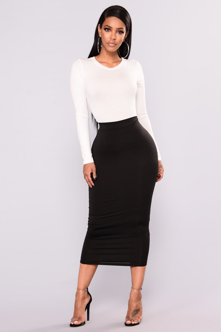 Olive Oil Skirt - Black
