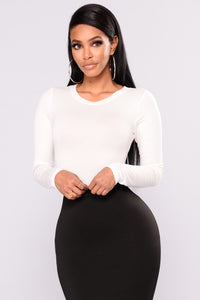 Running To You Long Sleeve Bodysuit - Ivory