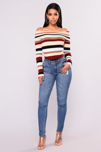 Remember Me Off Shoulder Sweater - Multi