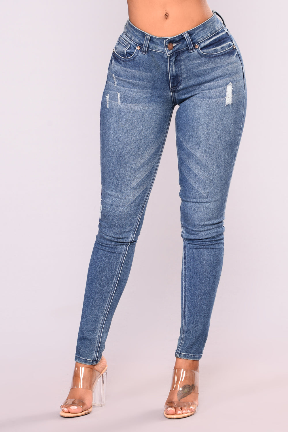 Gin And Tonic Skinny Jeans - Medium Blue Wash