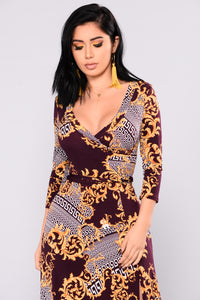 Italian Rivera Maxi Dress - Purple Multi
