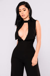 Nicest Place Wide Leg Jumpsuit - Black