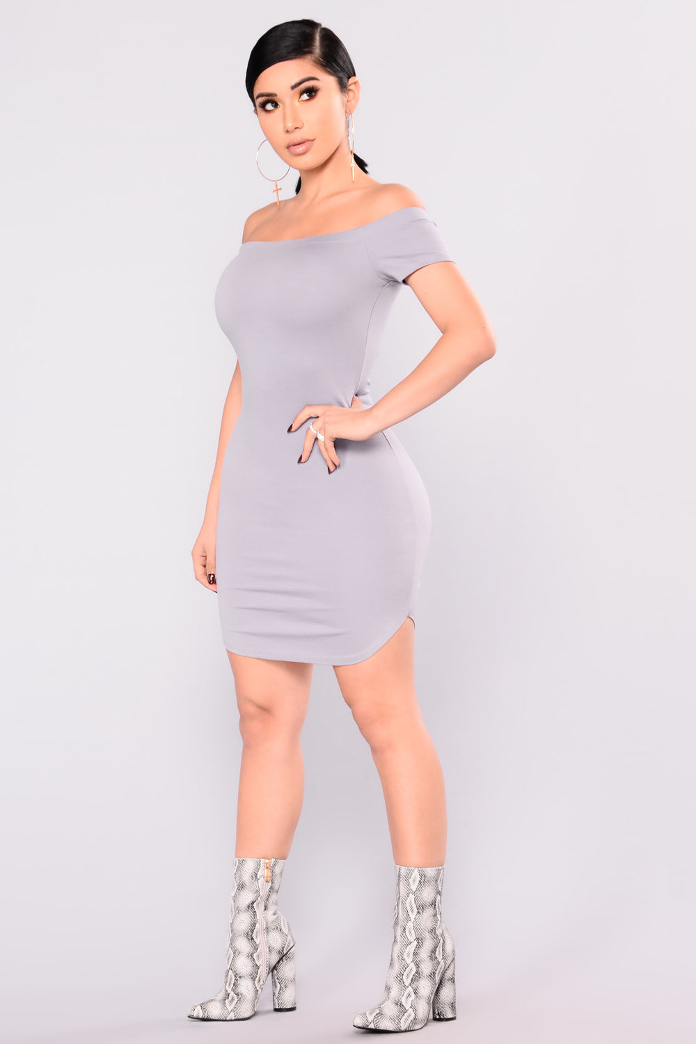 Need Time Off Shoulder Dress - Lavender