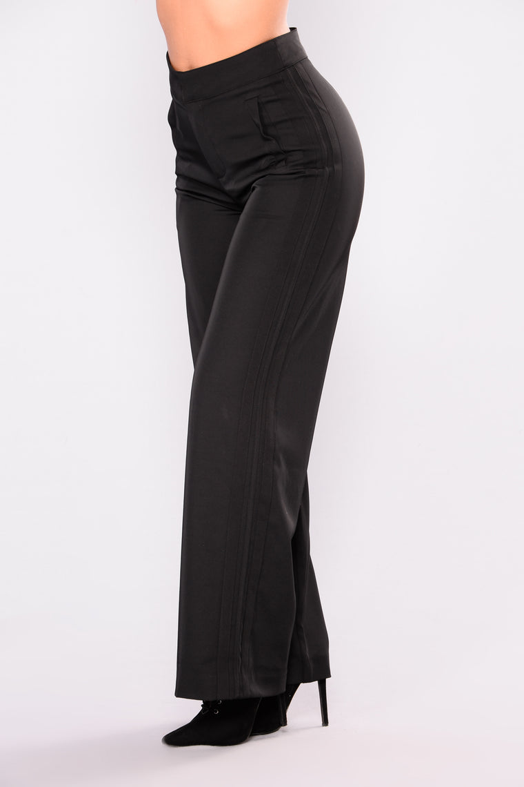 Krissy Wide Leg Pants - Black