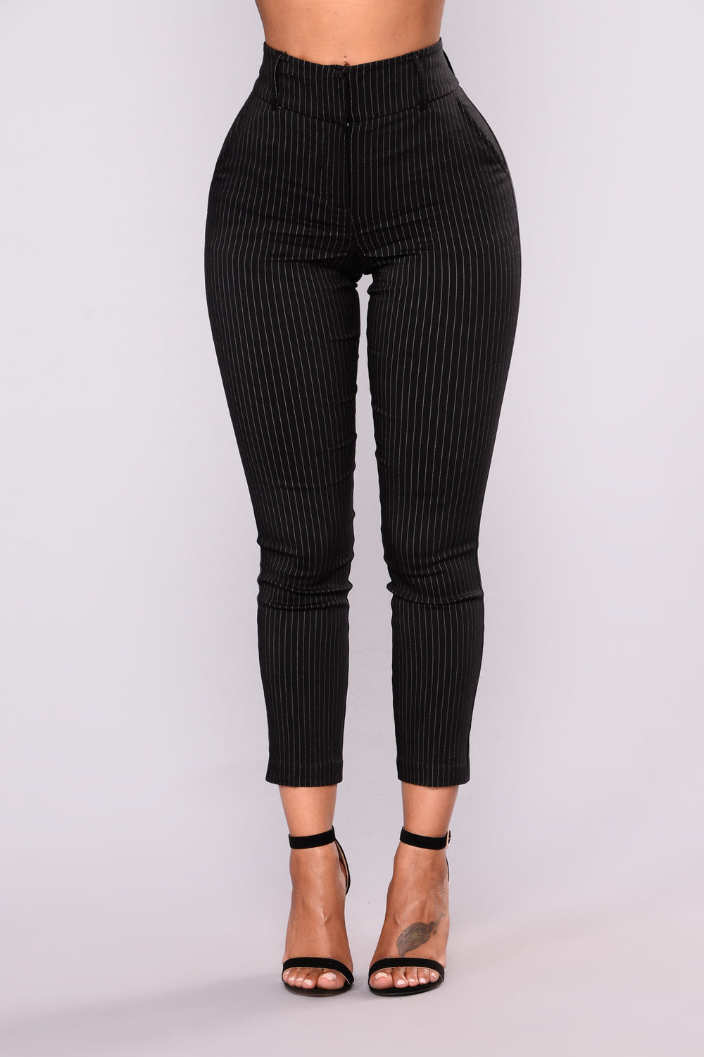 Anita Print Pants - Black